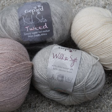 Gepard Garn Kombi Wild & Soft und Kid Seta Tweed